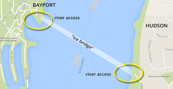 "St. Croix River ""ice bridge"""